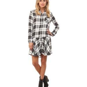 Sam Edelman 'Sophie' B&W Flannel Shirt Dress
